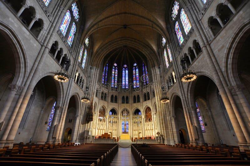 纽约河沿教会  免版税库存图片