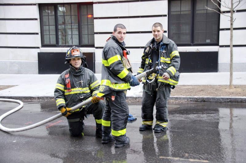 纽约消防员 免版税图库摄影