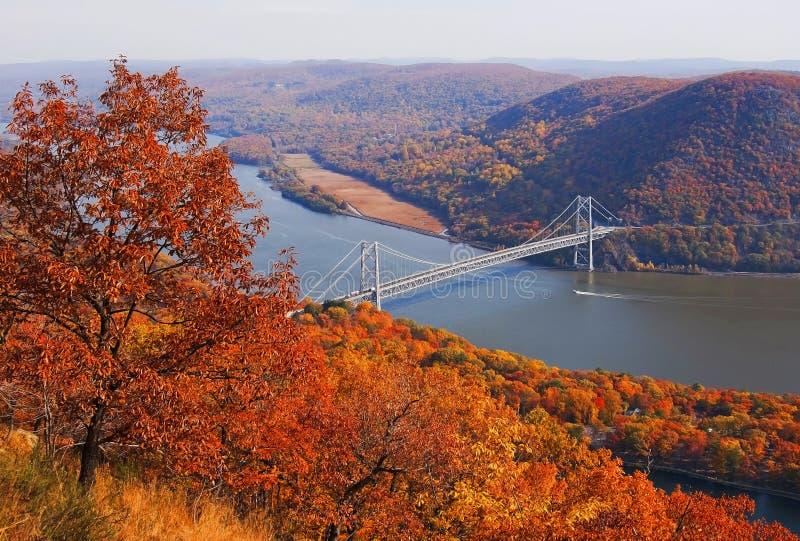 纽约熊山桥梁 库存照片