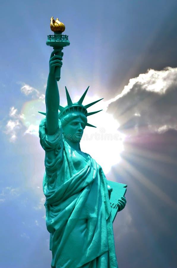 纽约的自由女神像 库存图片
