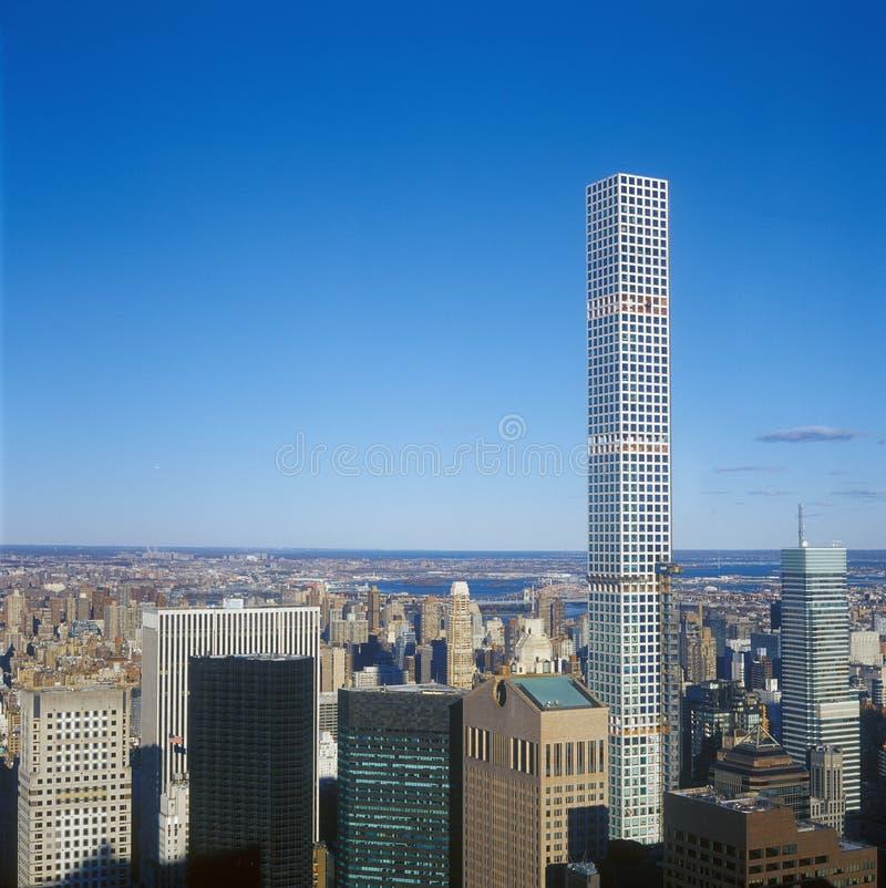 纽约的鸟瞰图- 432公园大道图片