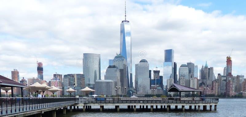 纽约看法从新泽西2的 库存照片