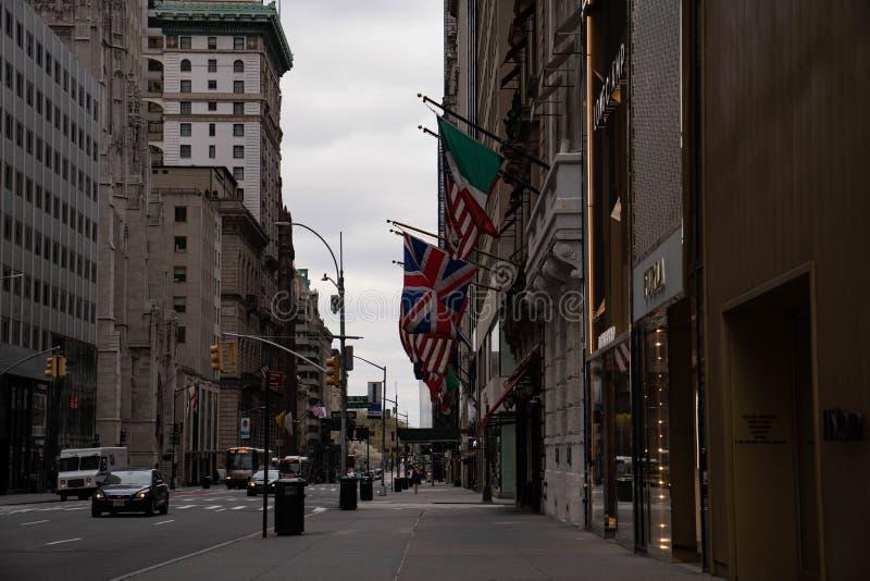 纽约第五大道圣帕特里克大教堂 免版税库存照片