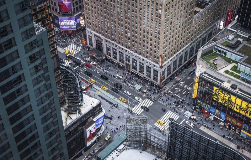 纽约第5个Ave垂直的视图 免版税图库摄影