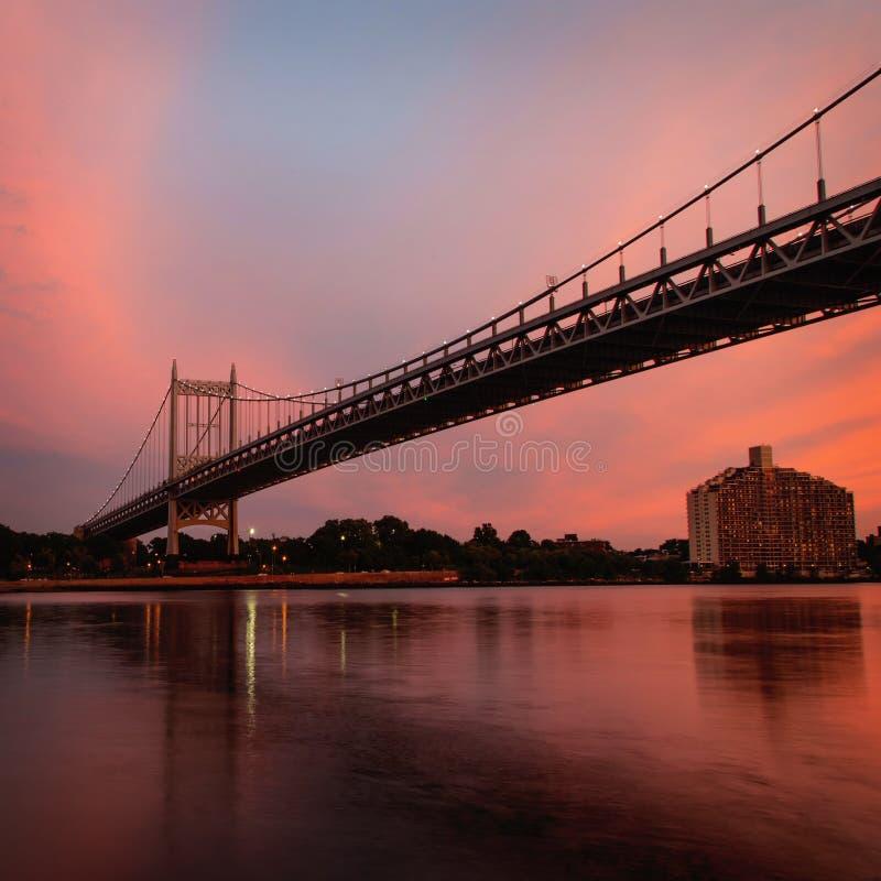 纽约罗伯特・肯尼迪大桥 库存图片