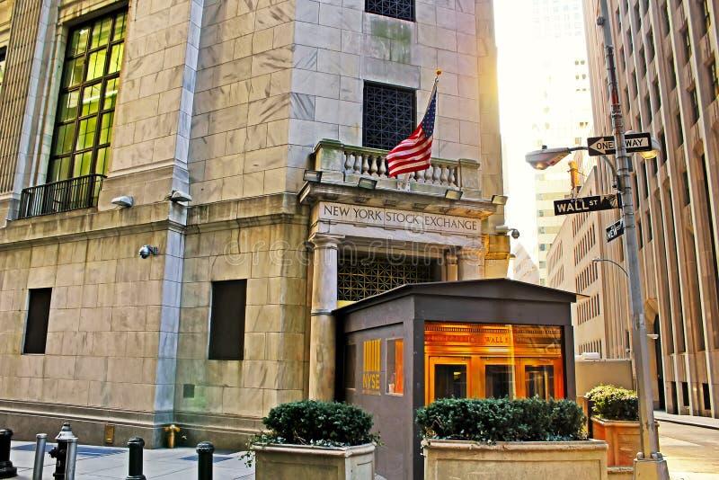 纽约股票交易所叫作资本主义的标志 免版税库存照片