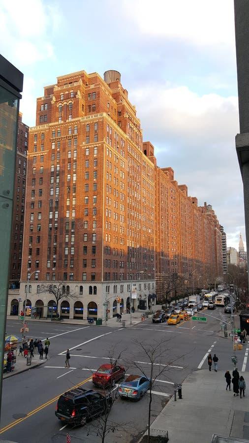 纽约街道在冬天 免版税库存照片