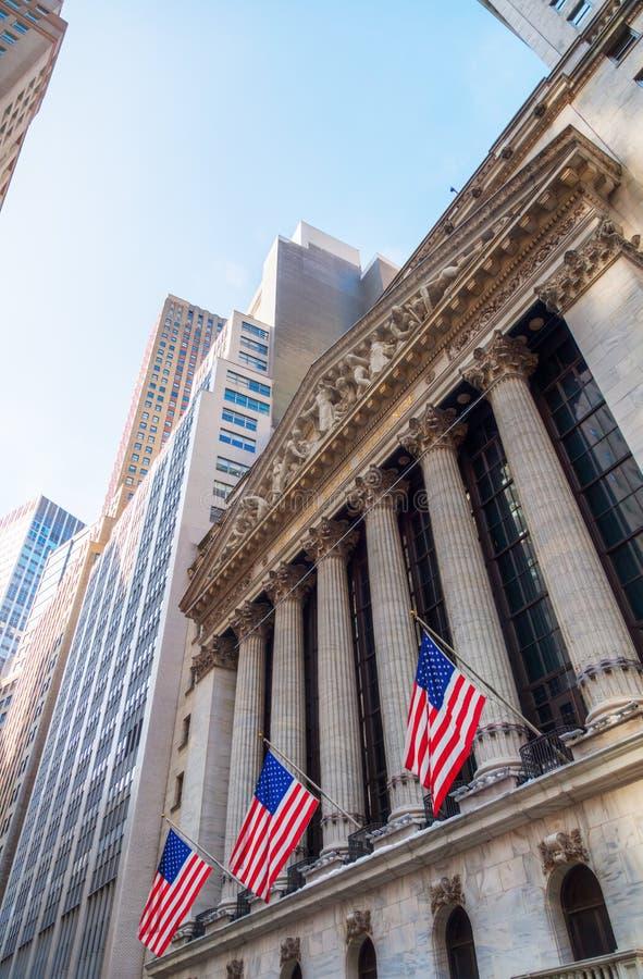 纽约证券交易所在曼哈顿, NYC 免版税库存照片