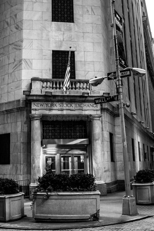 纽约证券交易所大厦 免版税库存图片