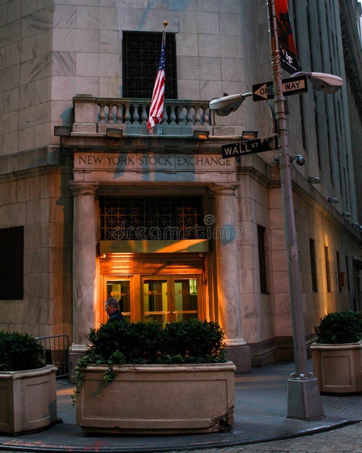 纽约证券交易所,华尔街 图库摄影