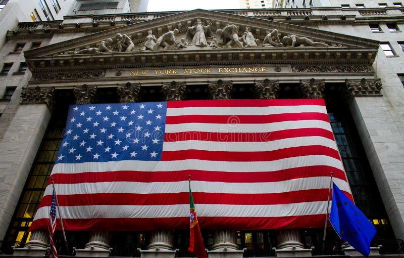 纽约证券交易所,华尔街 免版税库存照片