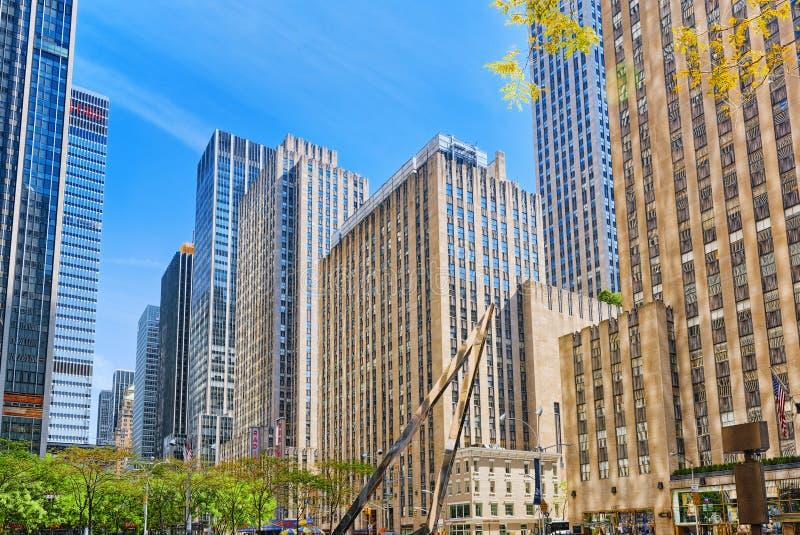 纽约都市都市风景  中间地区区 美国 免版税库存照片