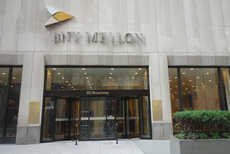 纽约银行梅隆 库存照片