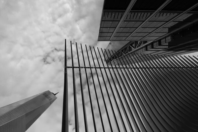 纽约香港世界贸易中心修造的9月11日 免版税图库摄影