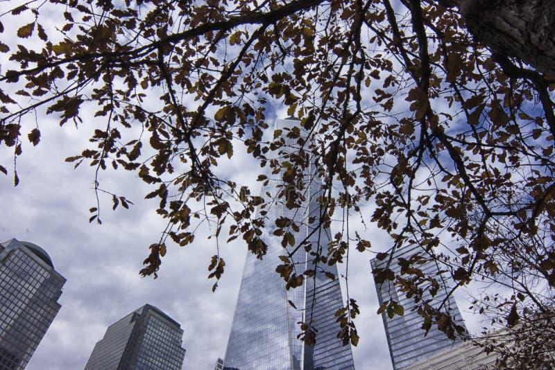 纽约香港世界贸易中心全国9月11日纪念品&博物馆大厦 免版税库存图片