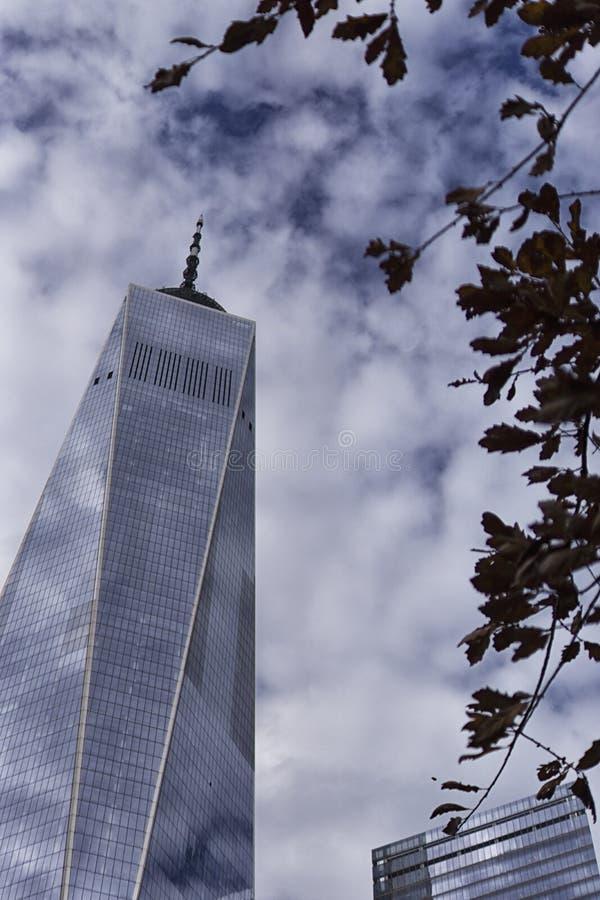 纽约香港世界贸易中心全国9月11日纪念品&博物馆大厦 库存图片