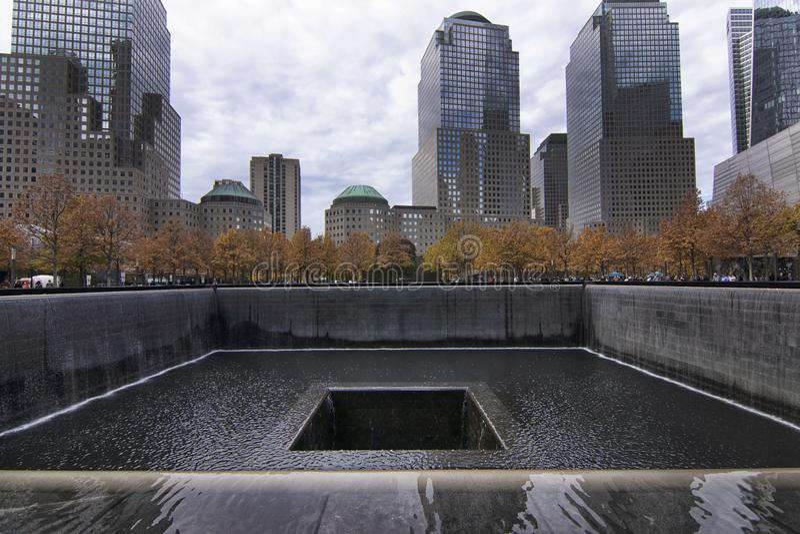 纽约香港世界贸易中心全国9月11日纪念品&博物馆 免版税图库摄影