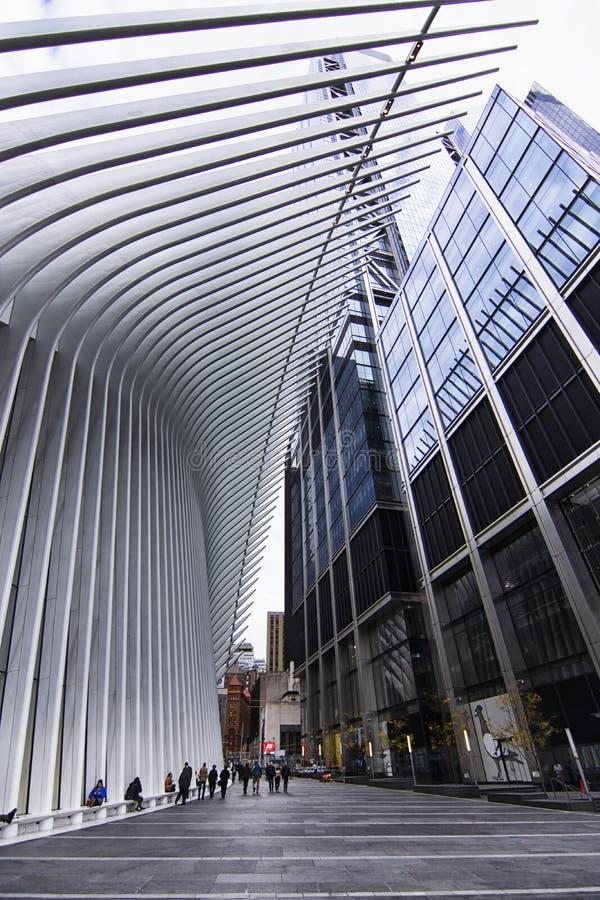 纽约香港世界贸易中心9月11日驻地 免版税图库摄影