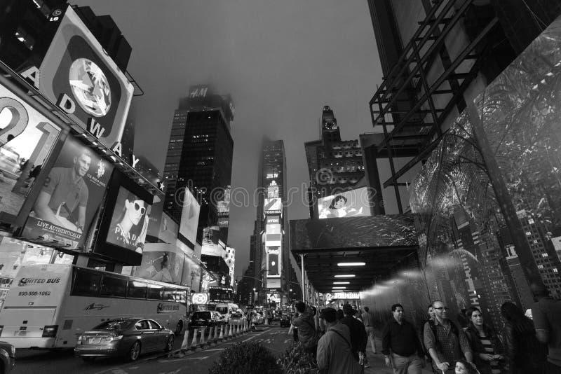 纽约,时代广场-夜交通时代广场,纽约,中间地区,曼哈顿 库存图片