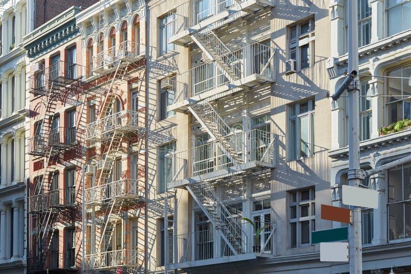 纽约,生铁建筑学大厦在伦敦苏豪区 免版税库存图片