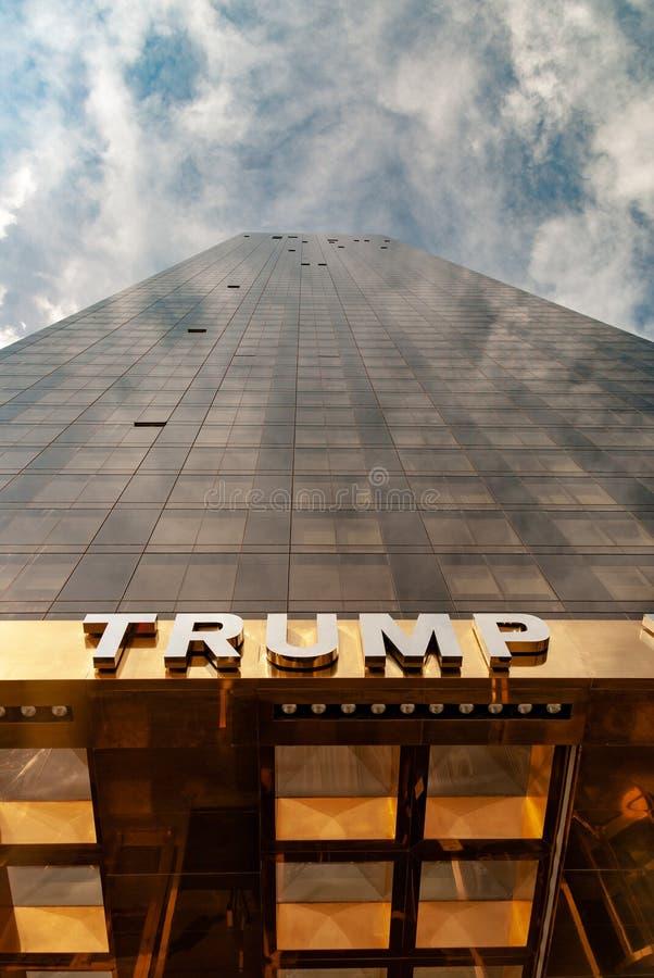 纽约,美国:2009年9月29日-王牌世界塔-画象方面 库存照片