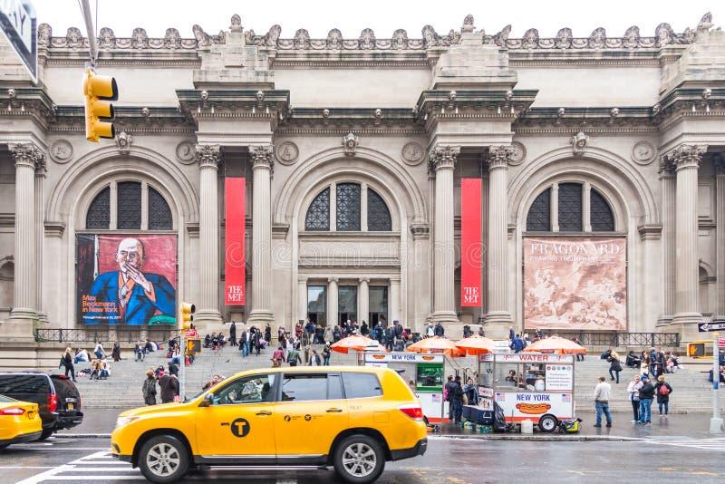 纽约,美国- 2016年12月18日:位于纽约的大都会艺术博物馆,是最大的美术馆 免版税图库摄影