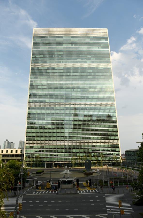 纽约,美国- 2018年5月26日:在新的Yor的联合国大厦 库存照片