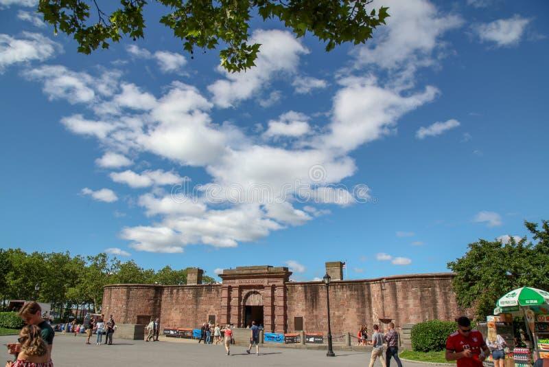 纽约,美国6月16,2018:城堡克林顿在巴特里公园纽约,美国 免版税库存图片