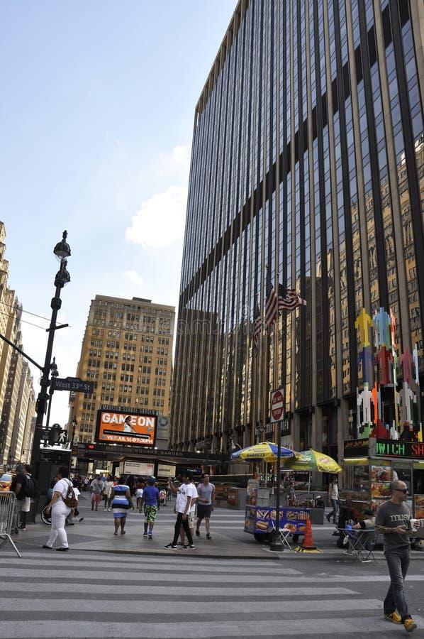 纽约, 7月2日:麦迪逊广场加登在从纽约的曼哈顿在美国 库存图片