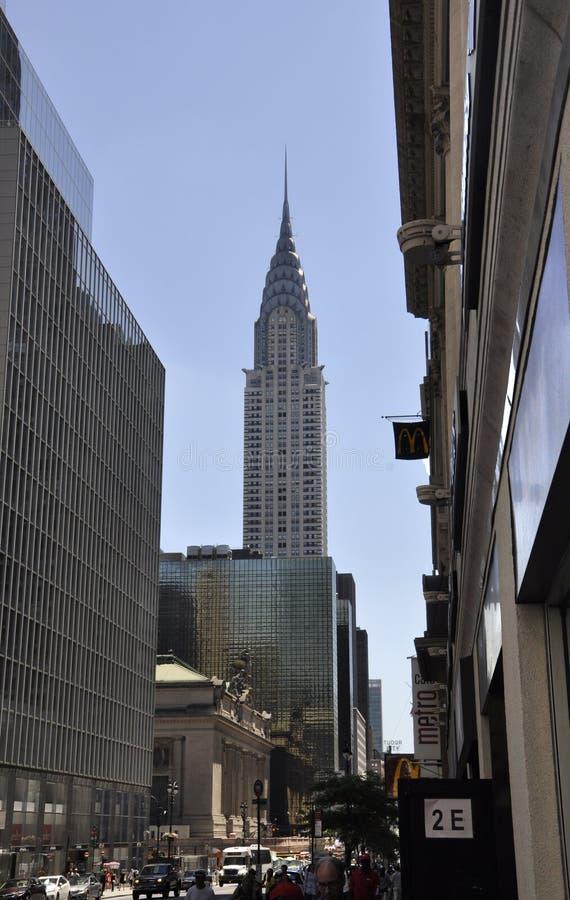 纽约, 7月2st日:Crysler塔在从纽约的曼哈顿中城在美国 库存照片