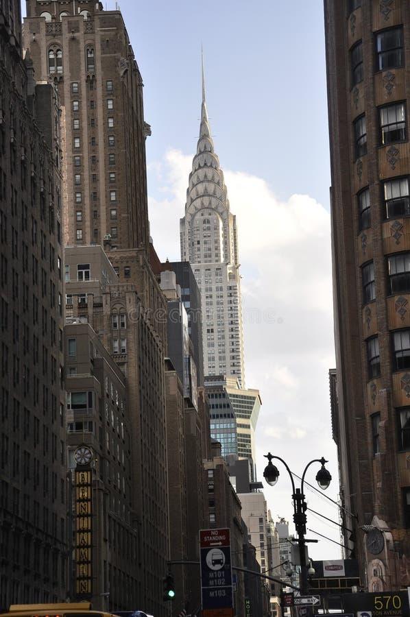 纽约, 7月2st日:Crysler塔在从纽约的曼哈顿中城在美国 免版税库存照片