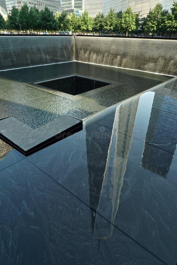 纽约, NY,美国- 2015年8月15日:世界贸易中心1, 9/11纪念和博物馆, 2015年8月15日 免版税库存图片