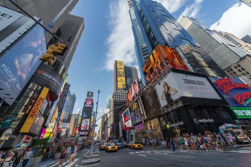 纽约, NY/USA -大约2013年7月:时代广场在纽约 库存照片