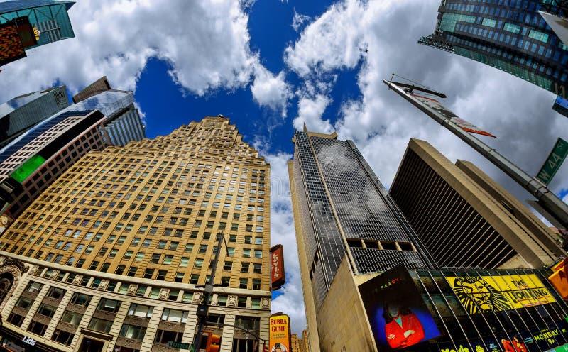 纽约-2018年6月15日:纽约时报广场是多数被认可的地标之一在美国 更多人参观计时Squar 免版税库存照片