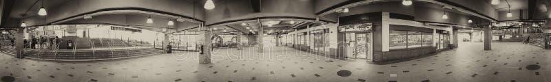 纽约- 2015年10月:科尼岛地铁st的游人 免版税库存图片