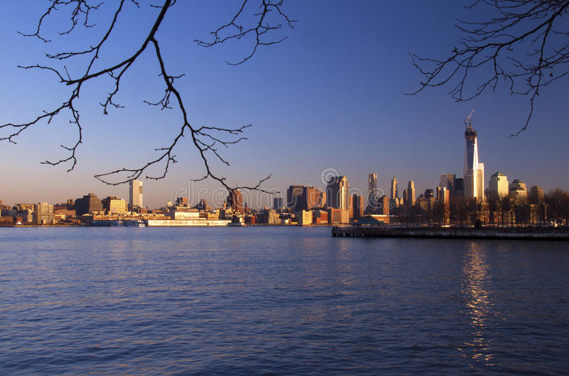 纽约晴朗的地平线  库存照片