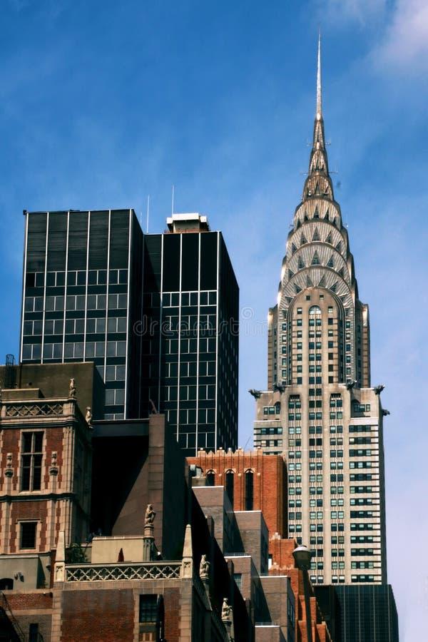 纽约-纽约摩天大楼的惊人的看法-美国 库存图片