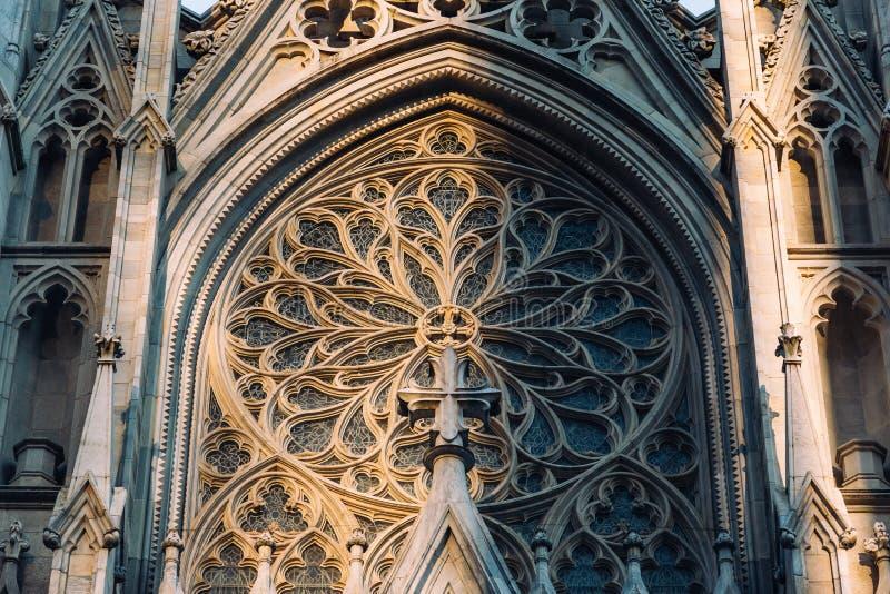 纽约/美国- 2018年7月19日:圣帕特里克` s大教堂faca 免版税库存照片