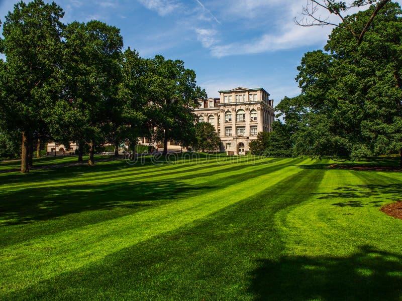 纽约-美国- Mertz图书馆在纽约植物园里在布朗克斯在纽约 库存图片