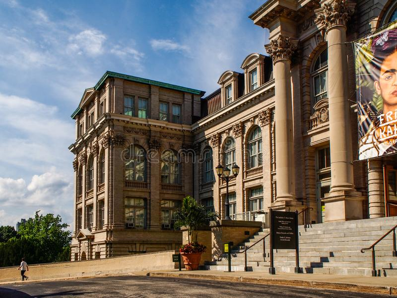 纽约-美国Mertz图书馆在纽约植物园里在布朗克斯在纽约 库存图片