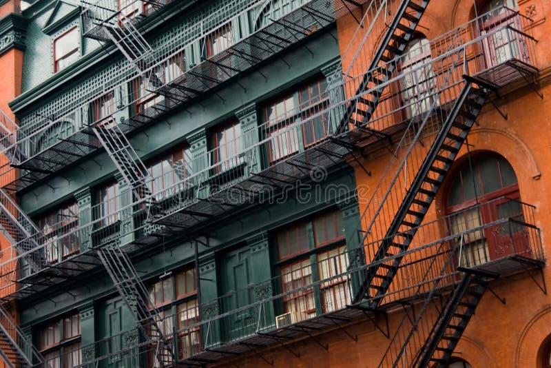 纽约-铸铁门面在苏活区 免版税库存图片