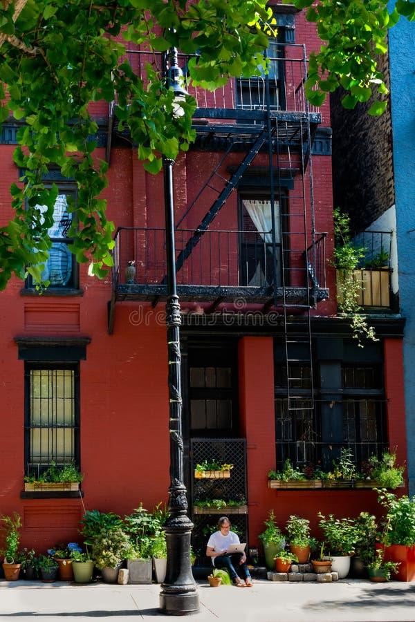 纽约-门面在格林威治村 库存图片