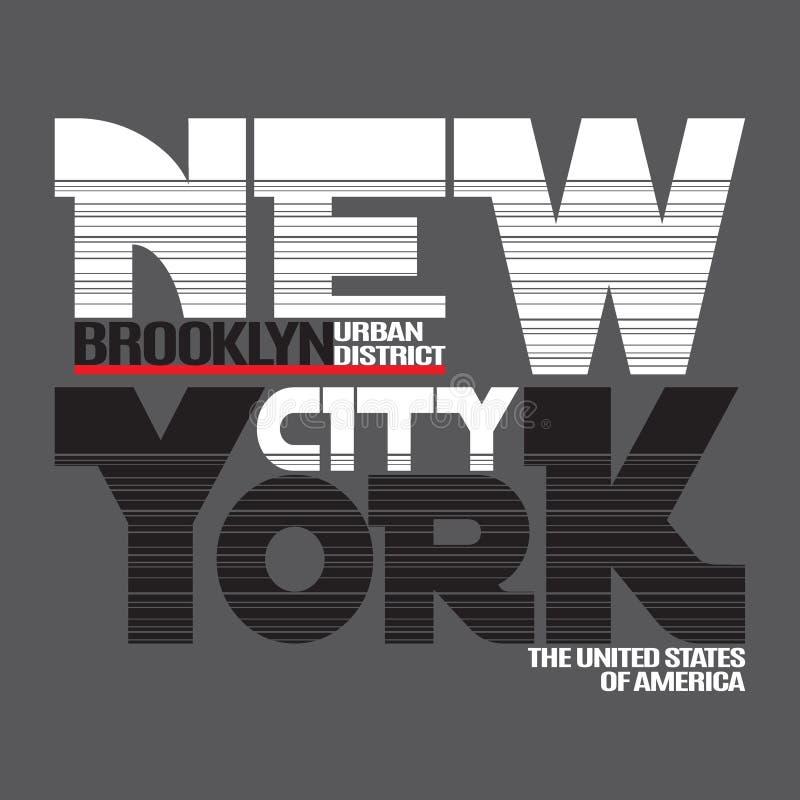 纽约T恤杉 向量例证