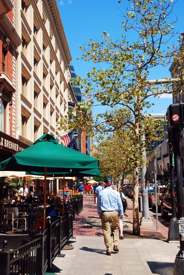 纽贝里街在波士顿 库存照片