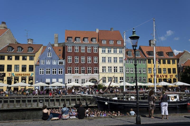 纽黑文,哥本哈根,丹麦 库存照片