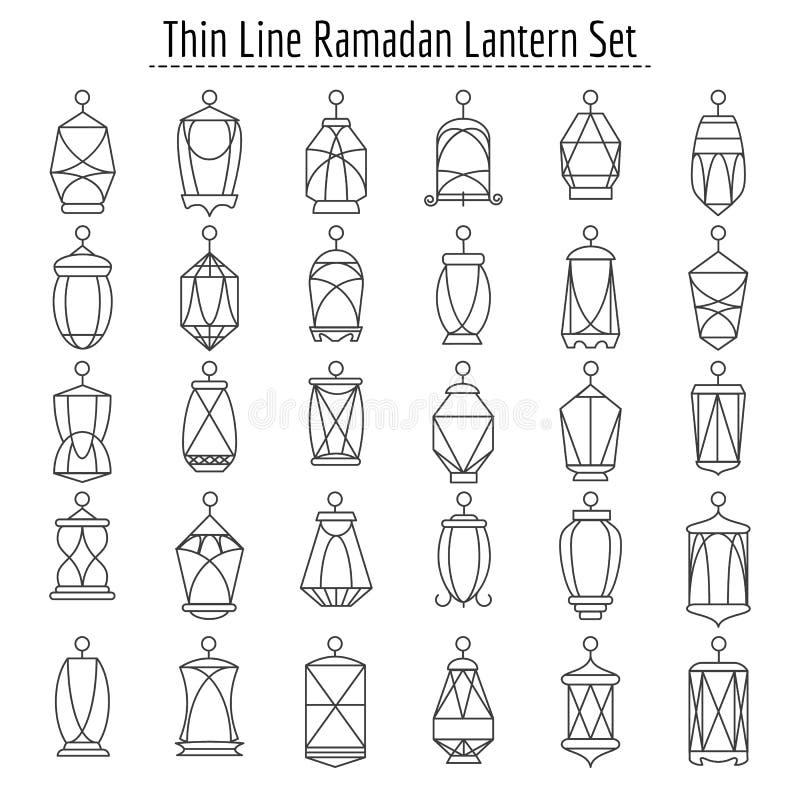 线伊斯兰教的灯笼 皇族释放例证