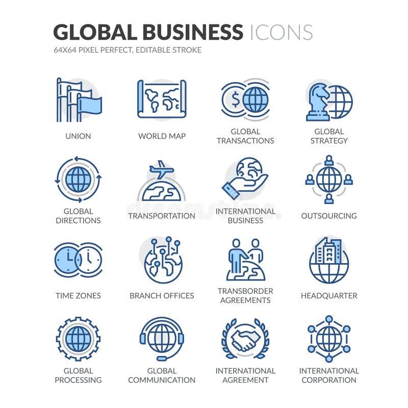 线全球企业象 库存例证