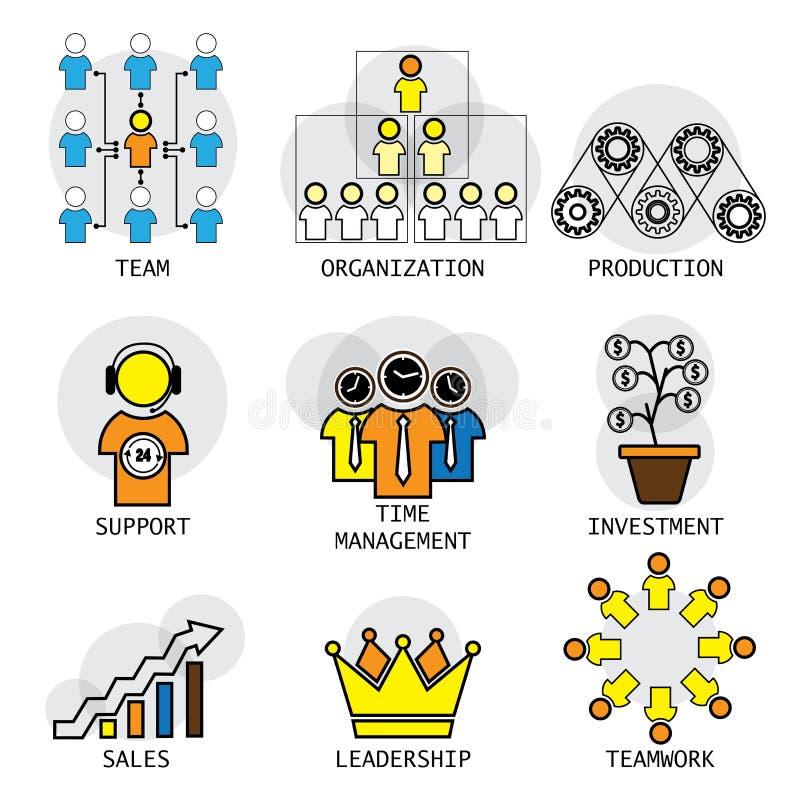 线办公室结构、领导、队& teamw传染媒介设计  向量例证