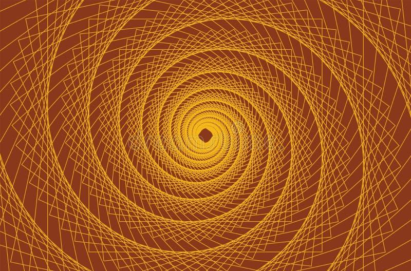 线半音传染媒介螺旋样式或纹理 向量例证