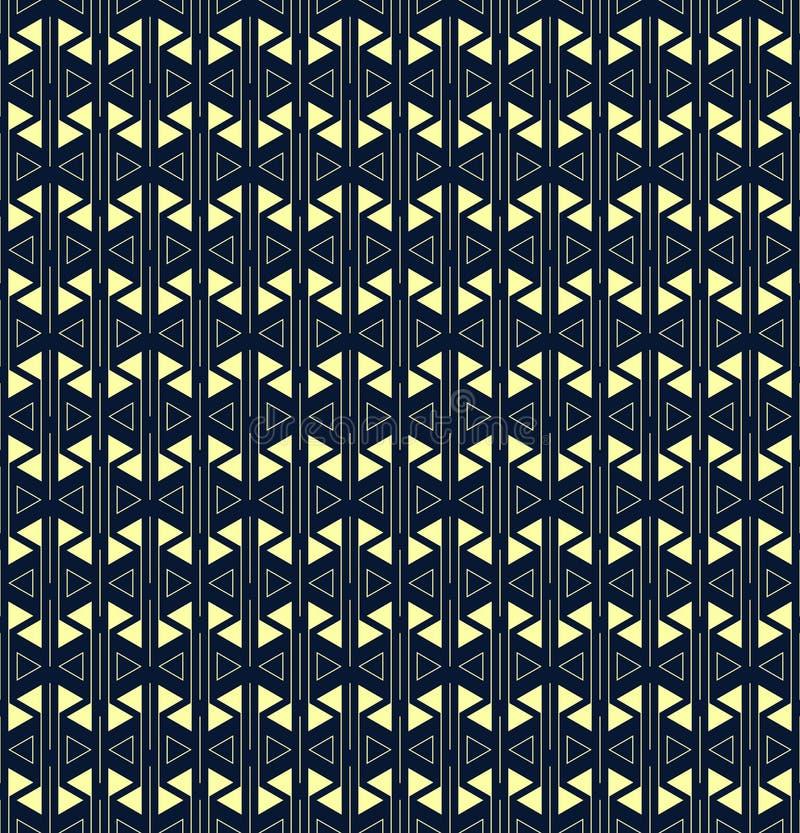 线和三角几何形状 r 简单的反复背景 纺织品油漆 织品样片 ?? 皇族释放例证
